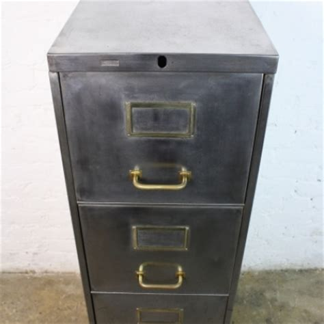 industrial style file cabinet vintage steel narrow 4 drawer filing cabinet with brass