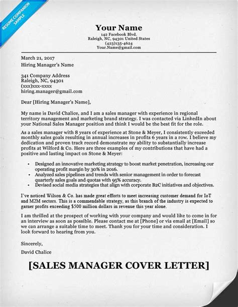 how to write a cover letter for sales trend covering letter for