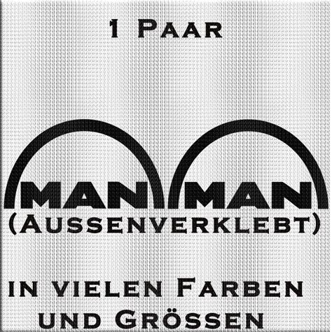Man Schriftzug Aufkleber by Man Schriftzug Aufkleber Paar Variante 2 Meinsticker