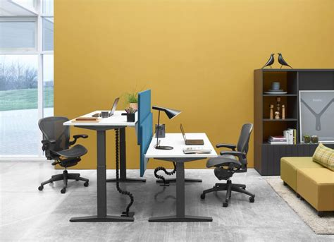 herman miller standing desk herman miller ratio sit stand desk office furniture scene