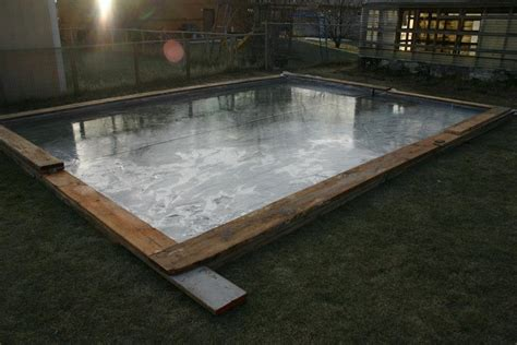 building backyard rink backyard ice rink diy
