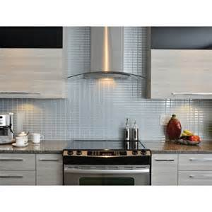Peel And Stick Kitchen Backsplash Tiles Stainless Peel And Stick Tile Backsplash Shop Smart Tiles
