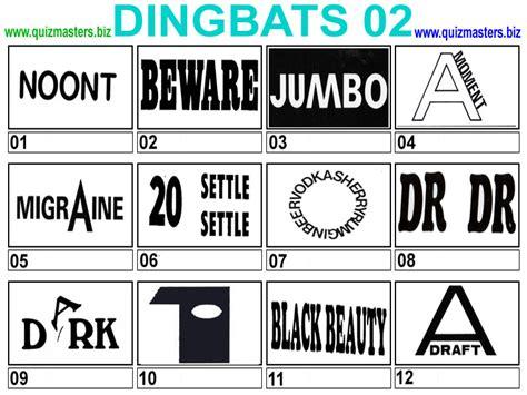 printable dingbat puzzles dingbats