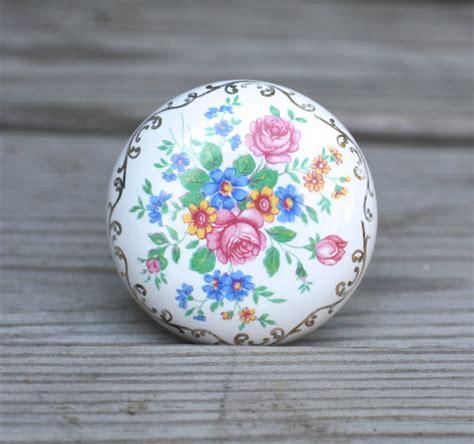 Vintage Ceramic Knobs by Vintage Antique Porcelain Door Knobs Floral