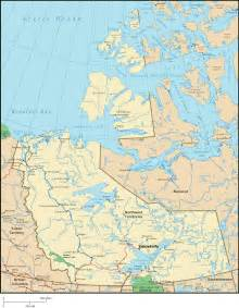 northwest territories map map of northwest territories