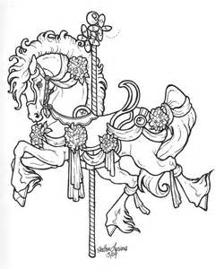 free coloring pages of carousel horses carousel lineart by crimsoncavedragon leather