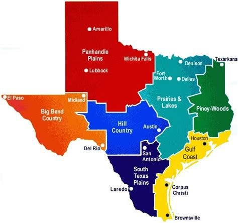 texas map with lakes texas lakes