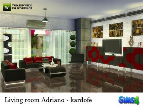 My Sims 4 Blog Adriano Living Room Set By Kardofe Sims 2 Living Room Sets
