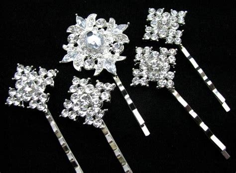 bobby pins bridal rhinestone pin set