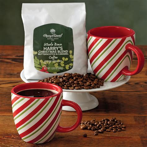 holiday coffee and candy cane mug gift set coffee gifts