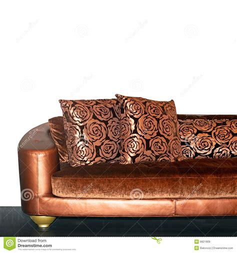 golden sofa golden sofa stock image image of decorative part