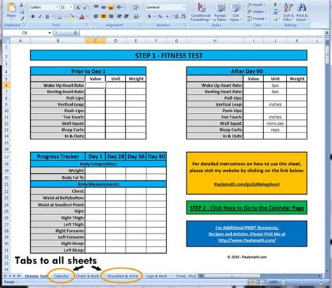 P90x Spreadsheet by P90x Nutrition Spreadsheet Nutrition Ftempo