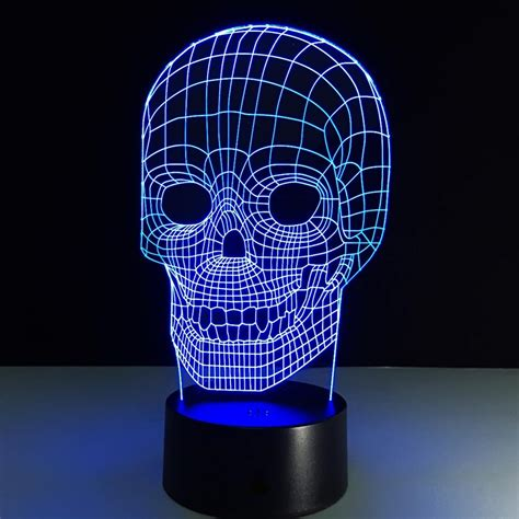 Lu Led Cosmos aliexpress buy luminarias light 3d l skull 3d lights children s nightlight visual