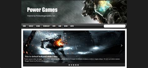 templates blogger for games 201 s 243 escolher 10 templates para montar seu blog de games
