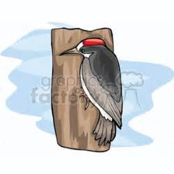 woodpecker on side of house royalty free woodpecker on the side of a tree 130732 vector clip art image
