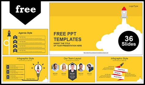 Rocket Launched Powerpoint Template Free Comic Book Style Powerpoint Template