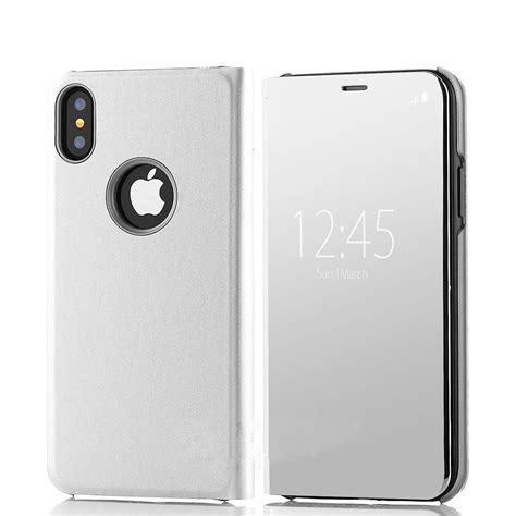 Iphone 6 6s Mirror Cover Hello Stand Holder Casing Cover for iphone x 10 8 7 plus 6s luxury touch mirror pu leather flip stand cover ebay