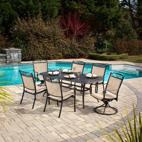 hton bay santa 7 patio dining set s7