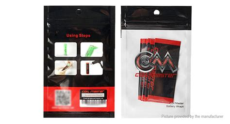 Authentic Coil Master 18650 Battery Wrap Original For Mod Vapor 9 06 authentic coil master pvc 18650 battery wraps 10 pack 10 pack 10pc pack at fasttech