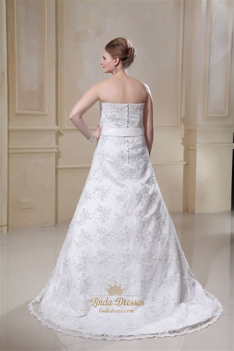 ivory strapless sweetheart a line wedding dresses
