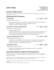 Resume Sample Teenager by Resumes For Teens Student Resume Template