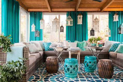 screen porch decorating ideas small screened in porch decorating ideas hgtv