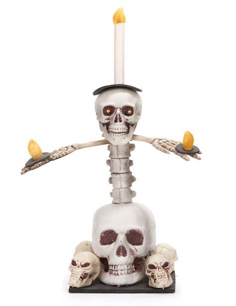 disfraz de candelabro candelabro luminoso calaveras 55x40 cm