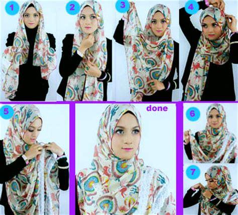 Kreasi Kerudung Segi Empat tutorial memakai jilbab segi empat kreasi terbaru