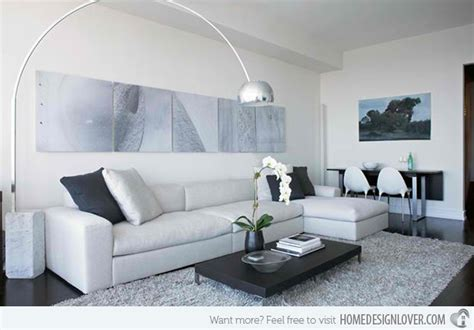 Modern White And Grey Living Room by 15 Modern White And Gray Living Room Ideas House