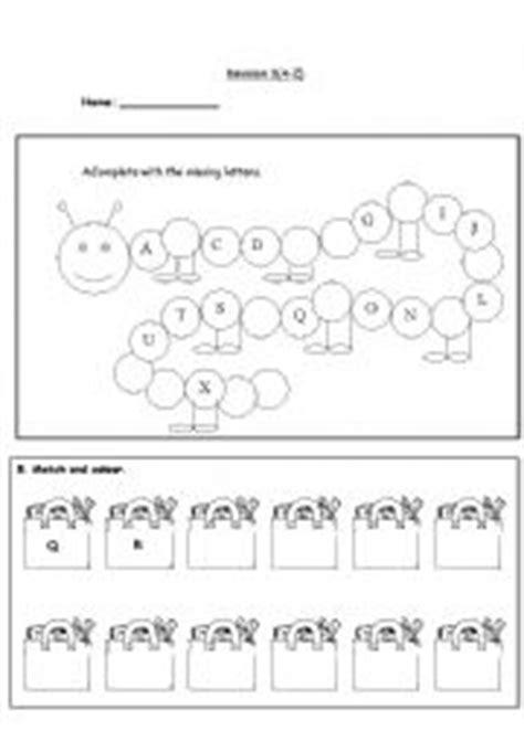 alphabet revision exercises 3 a z