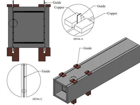 welding box section steel structure magazine electroslag welding from shop to field