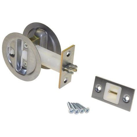 johnson hardware brushed nickel pocket door privacy lock 152115p1 the home depot
