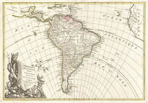 america map vintage map of south america