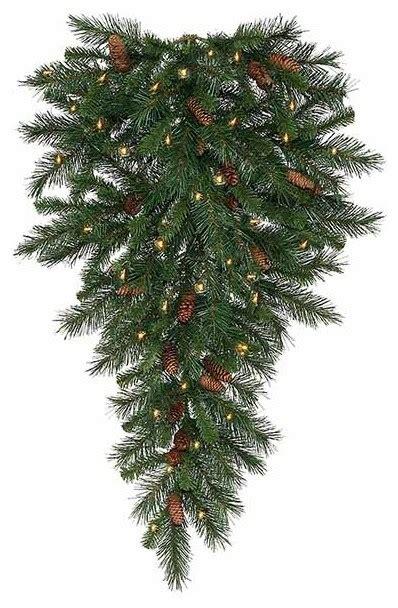 pre lit cheyenne pine artificial christmas teardrop swag