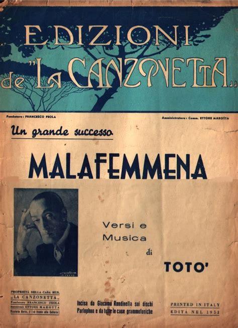 testo femmena malafemmena raccontata da vettorato 50annieround