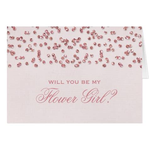 will you be my glitter look confetti will you be my flower note