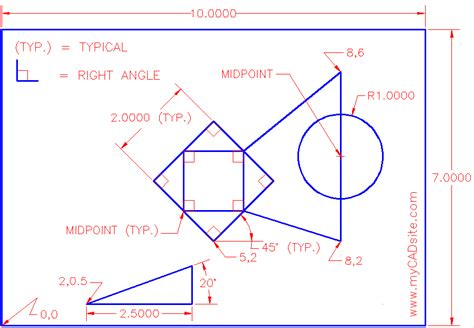 autocad tutorial offset command trim extend offset osnaps in autocad tutorial and video