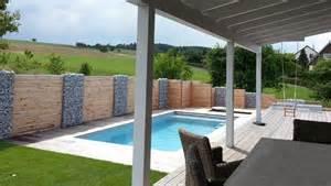 terrasse pool bau eines vorgartens mit neuer terasse pool und