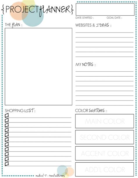 project planner template free 301 moved permanently free printable project planner organizing pinterest