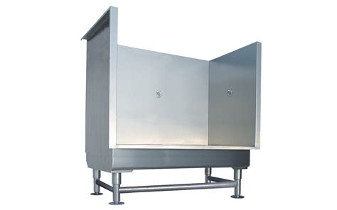 grooming tubs direct s sturdy stainless steel step in grooming tubs protect walls