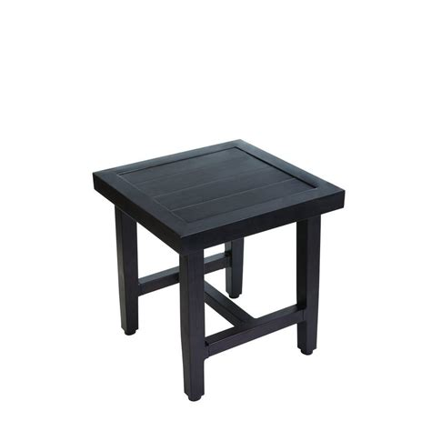 Outdoor Accent Table Hton Bay Woodbury Patio Accent Table D9127 Ts The Home Depot