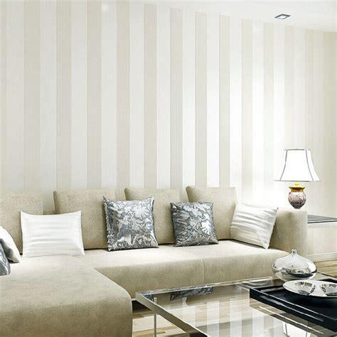 Living Room Wallpaper For Sale Modern Silver Glitter White Striped Wallpaper For Wall