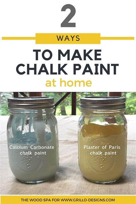 diy chalk paint calcium carbonate vs plaster of 2 ways to make chalk paint grillo designs