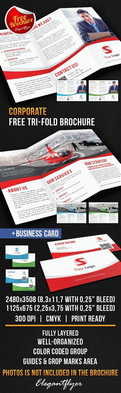 Corporate Tri Fold Brochure Free Psd Template By Elegantflyer Corporate Tri Fold Brochure Template