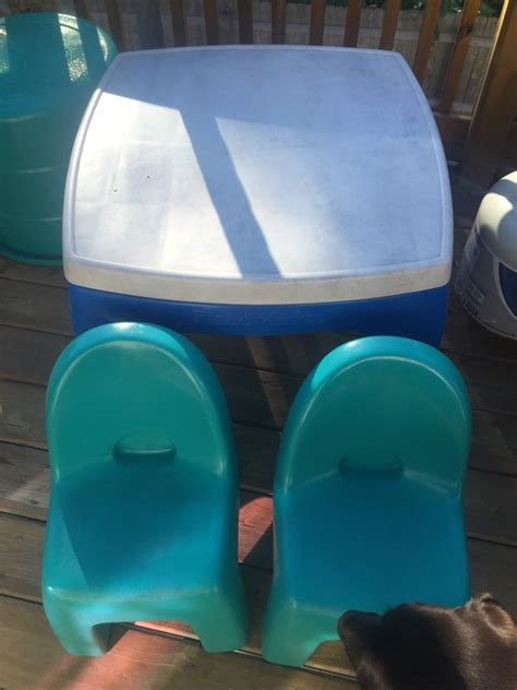 fisher price water table letgo fisher price water table and chairs in portage in