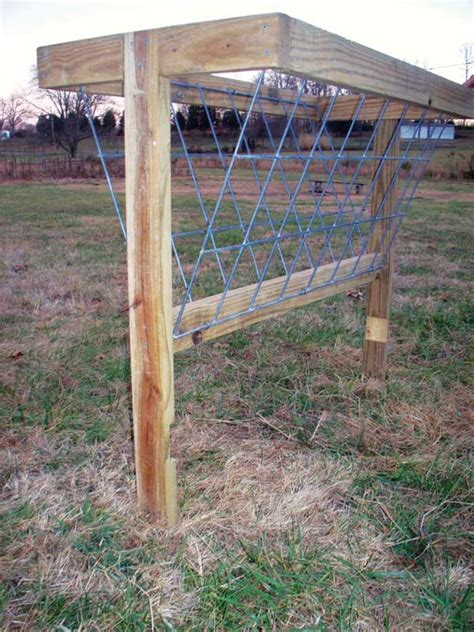 Goat Hay Feeder Designs how to build a hay feeder for smaller livestock farm and garden grit magazine