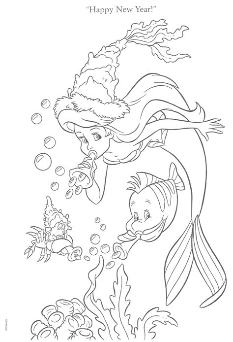 little mermaid christmas coloring pages little mermaid coloring pages for christmas fun for