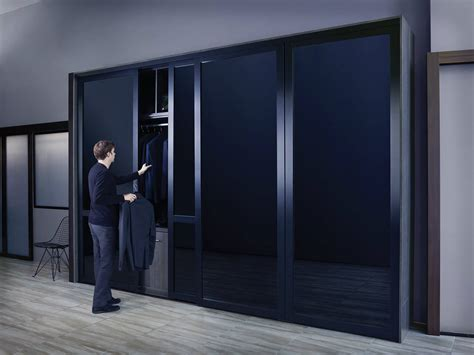 Closet With Glass Doors Black Glass Sliding Closet Doors