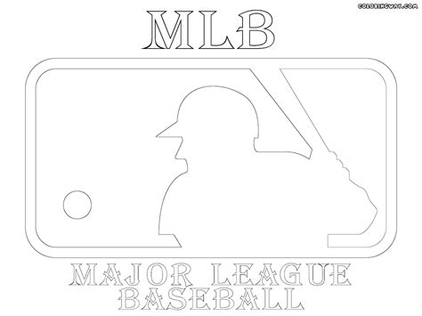Mlb Logos Coloring Pages Coloring Pages To Download And Mlb Logo Coloring Pages