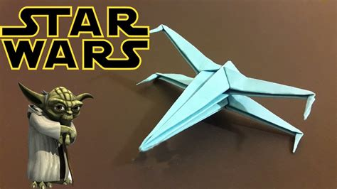 Wars X Wing Origami - how to make origami wars x wing origami tutorial